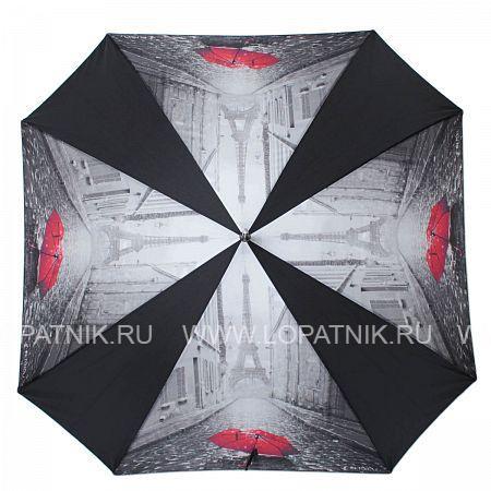 Зонт-трость женский FLIORAJ 290403 FJ, Красный, Черный, Серый  - купить со скидкой