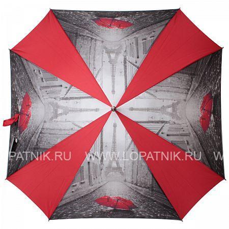 Купить Зонт-трость женский FLIORAJ 290402 FJ, Красный, Черный, Серый