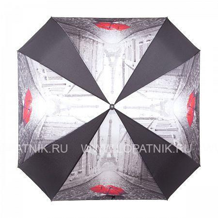 Зонт женский автомат FLIORAJ 170103 FJ, Красный, Черный, Серый, Полиэстер (тканевый)  - купить со скидкой
