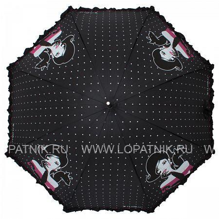 Купить Зонт-трость женский FLIORAJ 121212 FJ, Черный, Серый