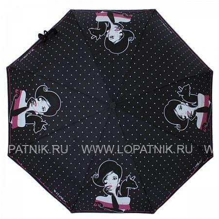 Зонт женский автомат FLIORAJ 160405 FJ, Черный, Серый  - купить со скидкой