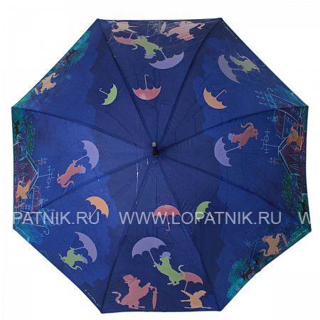Зонт-трость женский FLIORAJ 121211 FJ, Синий  - купить со скидкой