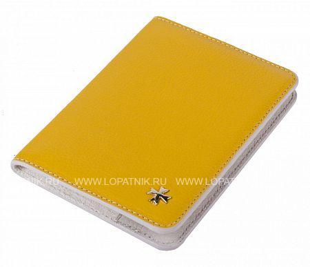 Купить Женская обложка для паспорта VASHERON 9150-N.POLO YELLOW, Желтый, Натуральная кожа