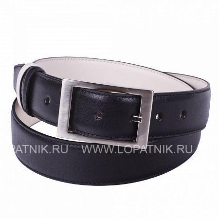 Купить Кожаный мужской ремень VASHERON 31008-VEG BLACK/VEG BEIGE, Черный, Натуральная кожа