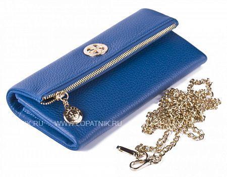Купить Кошелек-сумочка из натуральной кожи VASHERON 9592-N.POLO BRIGHT BLUE, Синий, Натуральная кожа