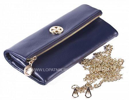 Купить Кошелек-сумочка из натуральной кожи VASHERON 9592-N.POLO D.BLUE, Синий, Натуральная кожа