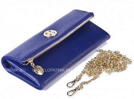 Купить Кошелек-сумочка из натуральной кожи VASHERON 9592-N.POLO ULTRA BLUE, Синий, Натуральная кожа