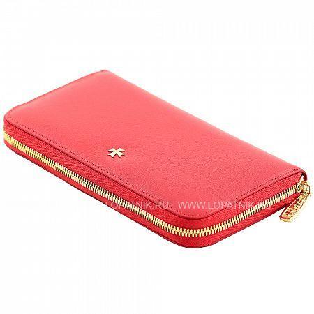 Женский кожаный кошелек VASHERON 9591-N.POLO RED