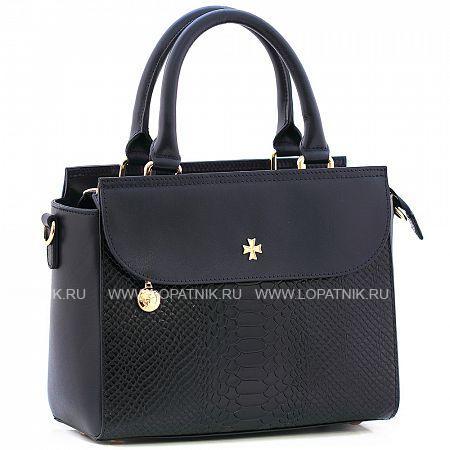 Купить Женская кожаная сумка VASHERON 9994-N.D.BLUE/ANAC D.BLUE, Синий, Черный, Натуральная кожа