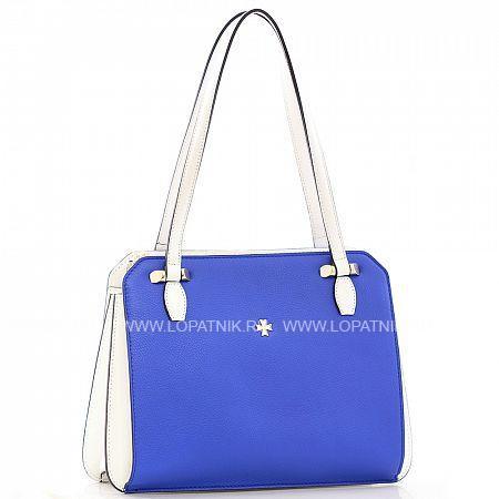 Женская кожаная сумка VASHERON 9995-N.POLO ULTRA BLUE, Белый, Синий, Натуральная кожа  - купить со скидкой