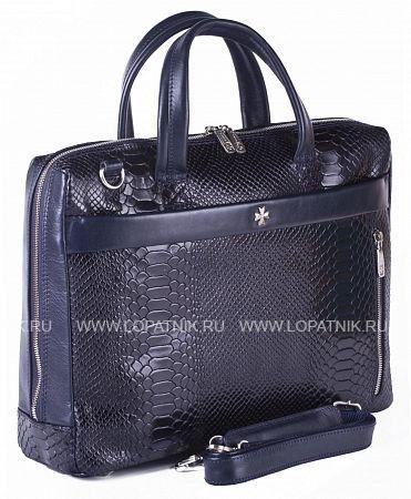 Купить Сумка-портфель VASHERON 9752-N.ANACONDA D.BLUE, Синий, Натуральная кожа