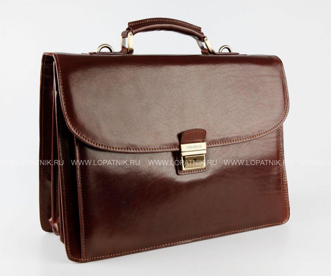542d42f7a43c Портфель кожаный мужской Chiarugi 4470 marr, Коричневый цена 46 116 ...