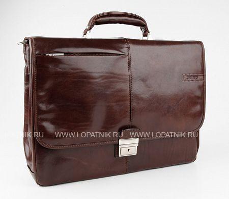 Купить Кожаный портфель с отделением для ноутбука CHIARUGI 4538 MORO, Коричневый, Натуральная кожа