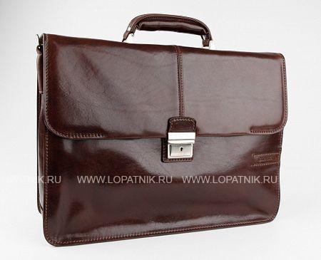 Купить Кожаный портфель с отделением для ноутбука CHIARUGI 4559 MORO, Коричневый, Натуральная кожа