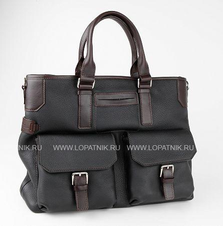 Купить Деловая кожаная сумка CHIARUGI 74610 NERO, Черный, Натуральная кожа