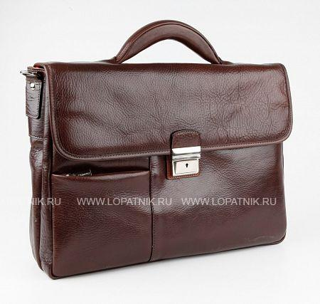Купить Портфель с отделением для ноутбука CHIARUGI 94583 MORO, Коричневый, Натуральная кожа
