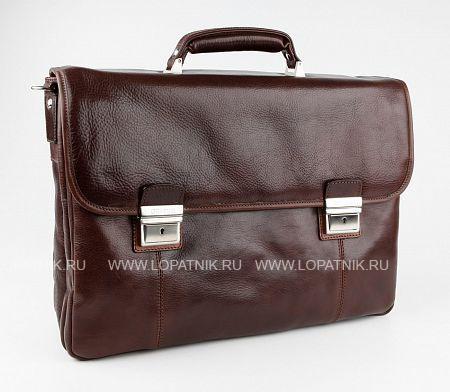 Купить Портфель с отделением для ноутбука CHIARUGI 94584 MORO, Коричневый, Натуральная кожа