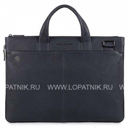 Купить Сумка для ноутбука кожаная мужская PIQUADRO CA4021B3/BLU, Синий, Натуральная кожа