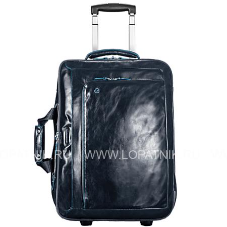 Купить Дорожная сумка на колесах PIQUADRO BV2960B2/BLU2, Синий, Натуральная кожа