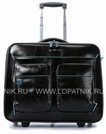 Купить Дорожная сумка на колесах PIQUADRO CA3338B2/N, Черный, Натуральная кожа