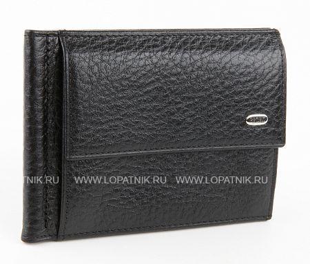 Купить Зажим для денег PETEK 143.46B.01, Черный, Натуральная кожа