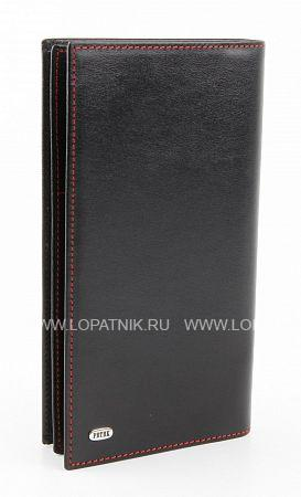 Купить Портмоне кожаное мужское PETEK 244.000.RD1, Черный, Натуральная кожа