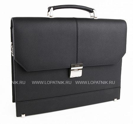 Купить Мужской кожаный портфель PETEK 791.234.01, Черный, Натуральная кожа