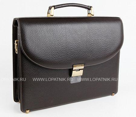 Купить Портфель со съемным плечевым ремнем PETEK 844.46B.KD2, Коричневый, Натуральная кожа