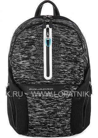 Купить Светоотражающий рюкзак с USB портами для зарядки PIQUADRO CA2943OS37/N, Белый, Черный, Полиэстер (тканевый)