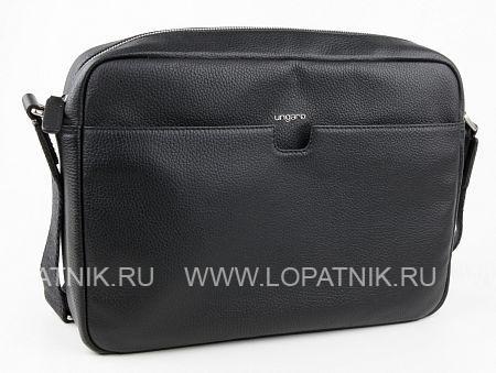 Купить Мужская сумка на плечевом ремне UNGARO BO00176M, Черный, Натуральная кожа