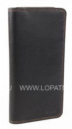 Купить Портмоне кожаное мужское UNGARO PU00063M, Черный, Натуральная кожа