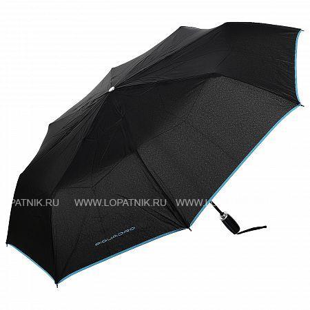 Купить Зонт мужской автомат PIQUADRO OM3607OM1/N, Черный, Полиэстер (тканевый)