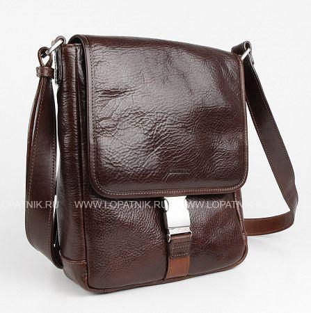 Купить Мужская сумка на плечевом ремне CHIARUGI 92551 MORO, Коричневый, Натуральная кожа