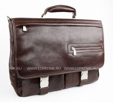 Купить Портфель с отделением для ноутбука CHIARUGI 94564 MORO, Коричневый, Натуральная кожа
