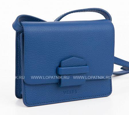Женская кожаная сумка синяя VELES W15722.199.81