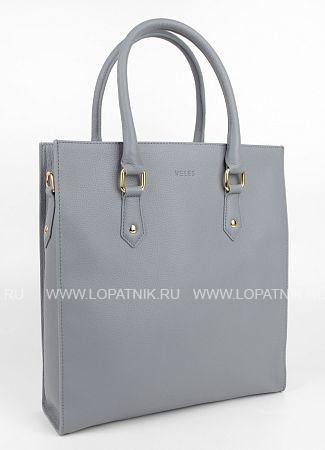 Купить Женская кожаная сумка серая VELES W15719.199.25, Серый, Натуральная кожа