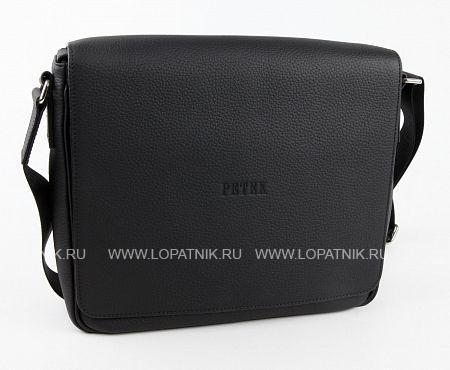 Сумка на плечевом ремне PETEK 3840.234.01Мужские сумки через плечо<br>Мужская сумка Petek на плечевом ремне из натуральной кожи черного цвета с гладкой фактурой. Закрывается — на магнит Внутренние отделения — 3 Отделения на молнии — 3 Внешний карман — 1 Наплечный ремень — есть Расположение — вертикальное<br>Материал: Натуральная кожа; Цвет: Черный; Пол: Мужской; Артикул: 3840.234.01;