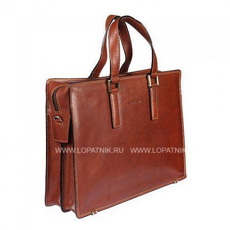 Купить Бизнес-сумка кожаная мужская GIANNI CONTI 911248 TAN, Коричневый, Натуральная кожа