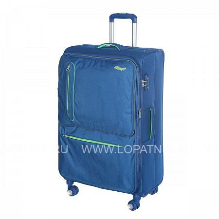 Купить Чемодан на колесах тканевый VERAGE GM16014W28 BLUE, Синий, Полиэстер (тканевый)