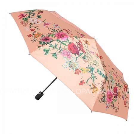 Купить Зонт женский полуавтомат FLIORAJ 100115 FJ, Бежевый, Разноцветный, Полиэстер (тканевый)