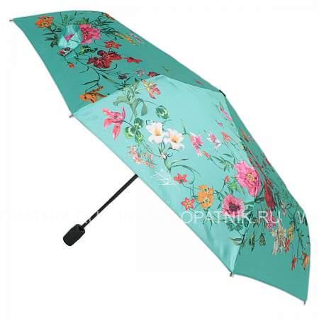 Купить Зонт женский полуавтомат FLIORAJ 100116 FJ, Зеленый, Разноцветный, Полиэстер (тканевый)