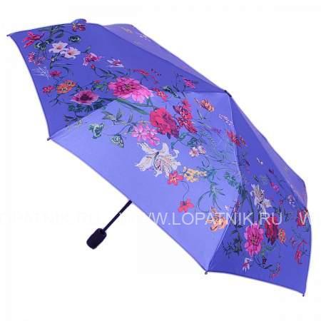 Купить Зонт женский полуавтомат FLIORAJ 100118 FJ, Голубой, Разноцветный, Полиэстер (тканевый)