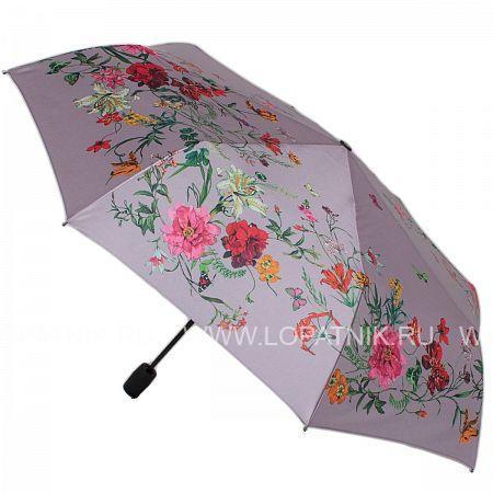 Купить Зонт женский полуавтомат FLIORAJ 100119 FJ, Серый, Разноцветный, Полиэстер (тканевый)