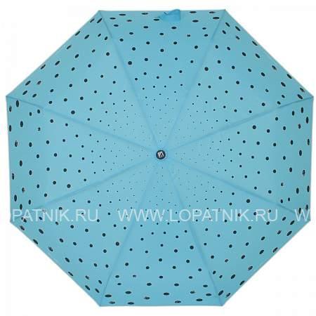 Купить Зонт автомат женский FLIORAJ 160408 FJ, Голубой, Черный, Полиэстер (тканевый)