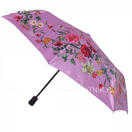 Купить Зонт автомат женский FLIORAJ 190218 FJ, Фиолетовый, Разноцветный, Полиэстер (тканевый)