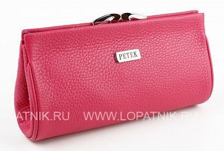 Купить Косметичка из натуральной кожи PETEK 409.168.44, Розовый, Натуральная кожа