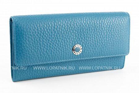 Купить Женский кошелек из натуральной кожи PETEK 440.46B.22, Голубой, Натуральная кожа
