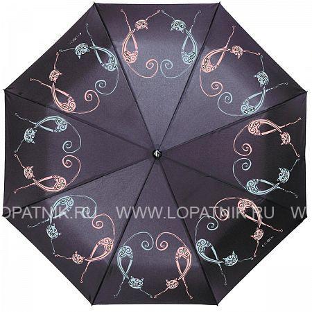 Купить Зонт автомат женский FLIORAJ 190224 FJ, Черный, Разноцветный, Полиэстер (тканевый)