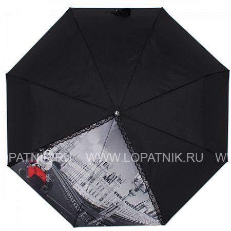 Купить Зонт автомат женский FLIORAJ 20103 FJ, Черный, Серый, Полиэстер (тканевый)