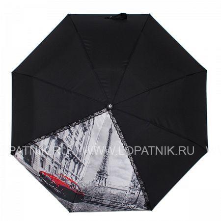 Купить Зонт автомат женский FLIORAJ 20105 FJ, Черный, Серый, Полиэстер (тканевый)